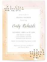 This is a gold bridal shower invitation by Shirley Lin Schneider called Painterly with foil-pressed printing on signature in standard.