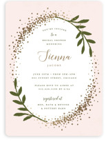 This is a gold bridal shower invitation by Michelle Taylor called Sparkling with foil-pressed printing on signature in standard.