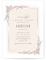 This is a beige bridal shower invitation by chocomocacino called positano with foil-pressed printing on signature in standard.