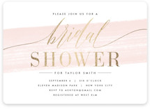 This is a pink bridal shower invitation by Kristie Kern called Effervescent with foil-pressed printing on signature in standard.