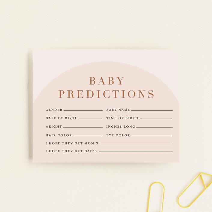 """Soft Arch"" - Modern Baby Shower Insert Cards in Blush by Erica Krystek."