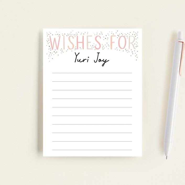 """""""100 days"""" - Baby Shower Insert Cards in Blush by Alethea and Ruth."""