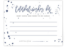 This is a purple baby shower insert card by Ashley Rosenbaum called Modern Take with standard printing on signature in standard.