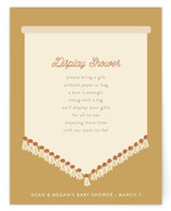 This is a brown baby shower insert card by Itsy Belle Studio called scandi boho with standard printing on signature in standard.