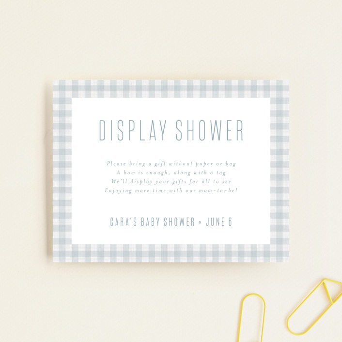 """""""Charming"""" - Preppy Baby Shower Insert Cards in Sky by Lea Delaveris."""