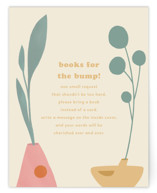 This is a yellow baby shower insert card by Morgan Ramberg called The momma and the bump with standard printing on signature in standard.