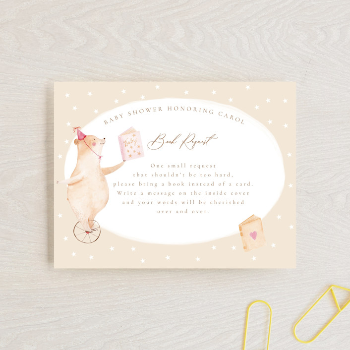 """""""Baby Circus"""" - Whimsical & Funny Baby Shower Insert Cards in Creme by frau brandt."""