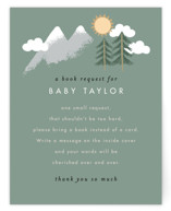 This is a brown baby shower insert card by Alethea and Ruth called Adventure on the horizon with standard printing on signature in standard.