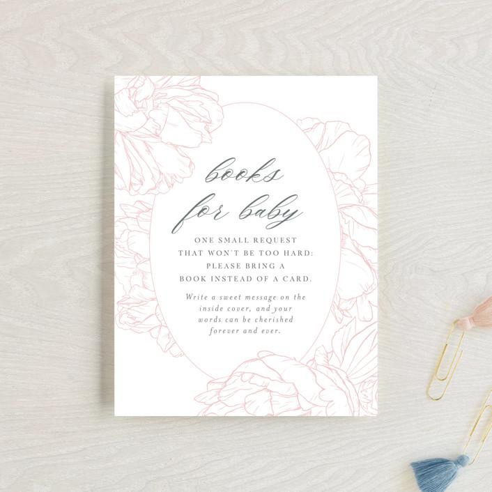 """Timeless"" - Baby Shower Insert Cards in Blush by Nicoletta Savod."