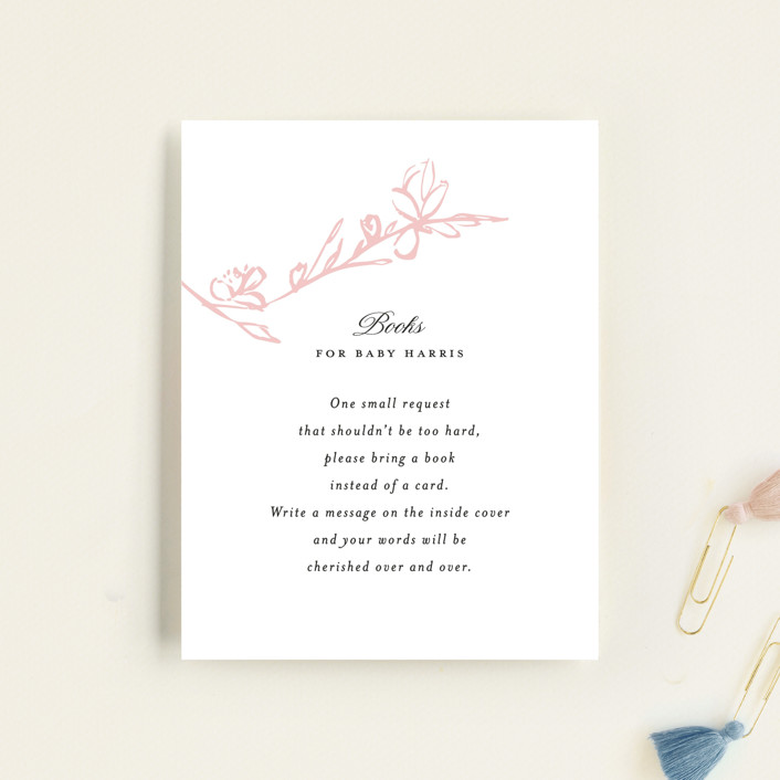 """""""Highland"""" - Baby Shower Insert Cards in Petal by Kimberly FitzSimons."""