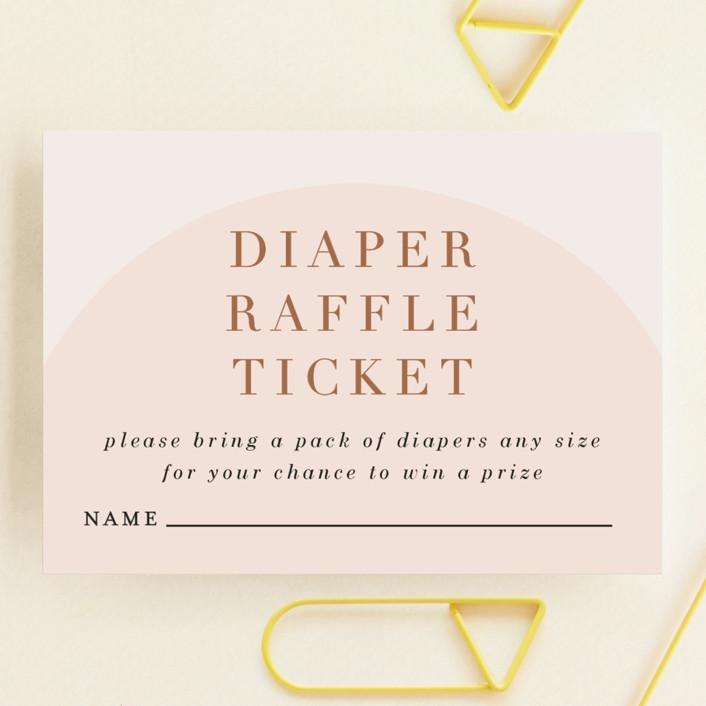 """Soft Arch"" - Modern Mini Baby Shower Insert Cards in Blush by Erica Krystek."