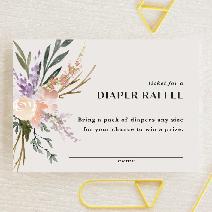 """""""Stacked Bouquets"""" - Mini Baby Shower Insert Cards in Amethyst by Kate Ahn."""