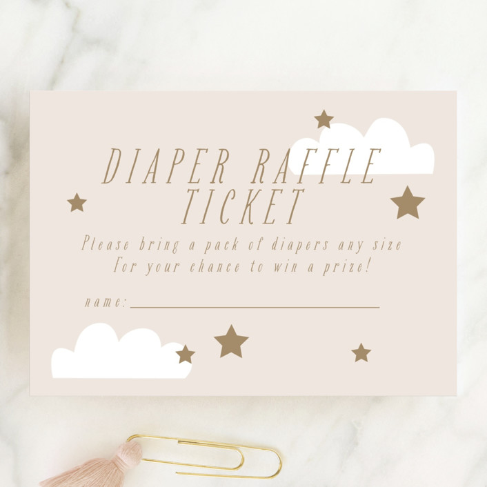 """""""Twinkle Sprinkle"""" - Whimsical & Funny Mini Baby Shower Insert Cards in Ecru by Angela Thompson."""