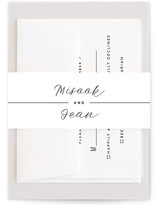 This is a black and white belly band by Minted called Me and You with standard printing on signature text in belly band.