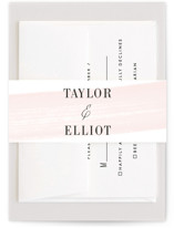 This is a pink belly band by Kristie Kern called Effervescent with standard printing on signature text in belly band.