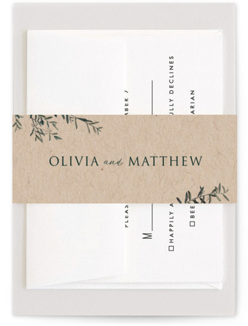 This is a botanical, rustic, brown Belly Bands by Christie Kelly called Fresh Sage with Standard printing on Signature Text in Belly Band Flat Card format. Set the tone for your bright and lovely nuptials with this delicate and delightful ...