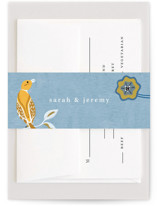 This is a blue belly band by Morgan Ramberg called The Love Birds with standard printing on signature text in belly band.