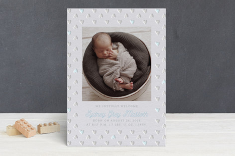 Baby Love Letterpress Birth Announcements by Desig      Minted