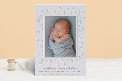 Our Shining Star Letterpress Birth Announcements