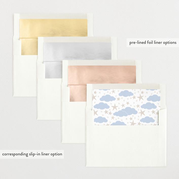 Nightime Sail Custom Letterpress Birth Announcements
