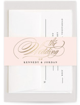 This is a classic colors belly band by Carrie ONeal called Filigree with foil-pressed printing on signature text in belly band.