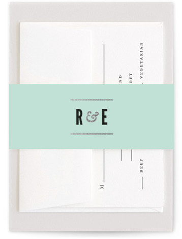 This is a bold typographic, modern, simple, green Belly Bands by Melissa Egan of Pistols called Classic Type with Foil Pressed printing on Signature Text in Belly Band Flat Card format. Classic typography and a neutral palette create a versatile ...