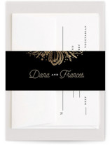 Classy Love Sign Foil-Pressed Belly Bands