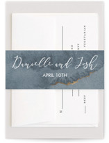 This is a blue belly band by Danielle Cole called Dreamy with foil-pressed printing on signature text in belly band.