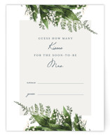 This is a green bridal shower insert card by Leah Bisch called Diamante with standard printing on signature in standard.