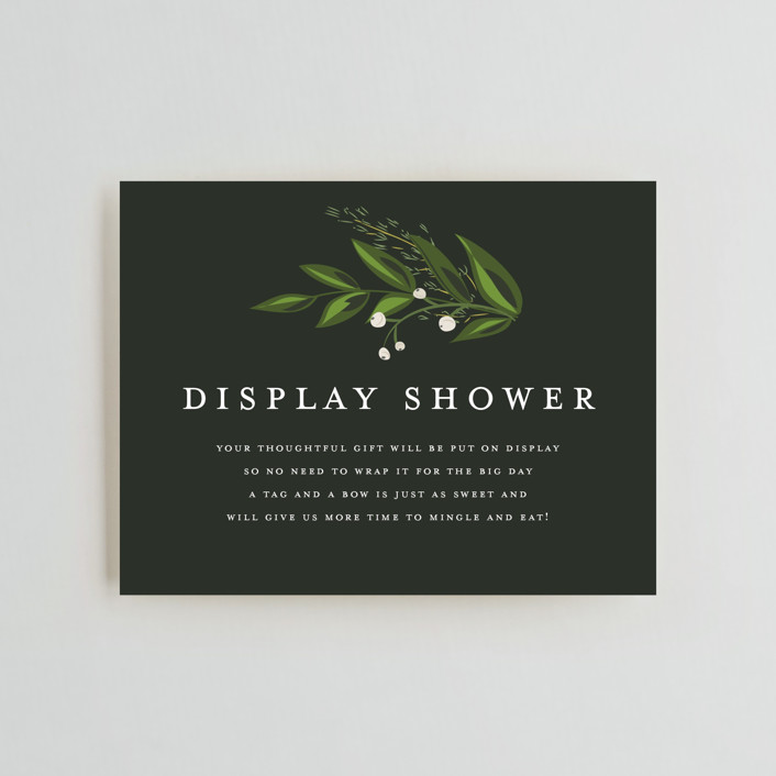"""""""Vines of Green"""" - Bridal Shower Insert Cards in Fern by Susan Moyal."""