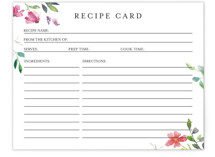 This is a pink bridal shower insert card by Mere Paper called Spring Wildflowers with standard printing on signature in standard.