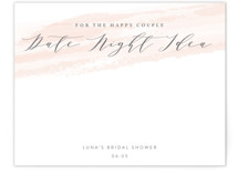 This is a pink bridal shower insert card by Owl and Toad called softly brushed with standard printing on signature in standard.