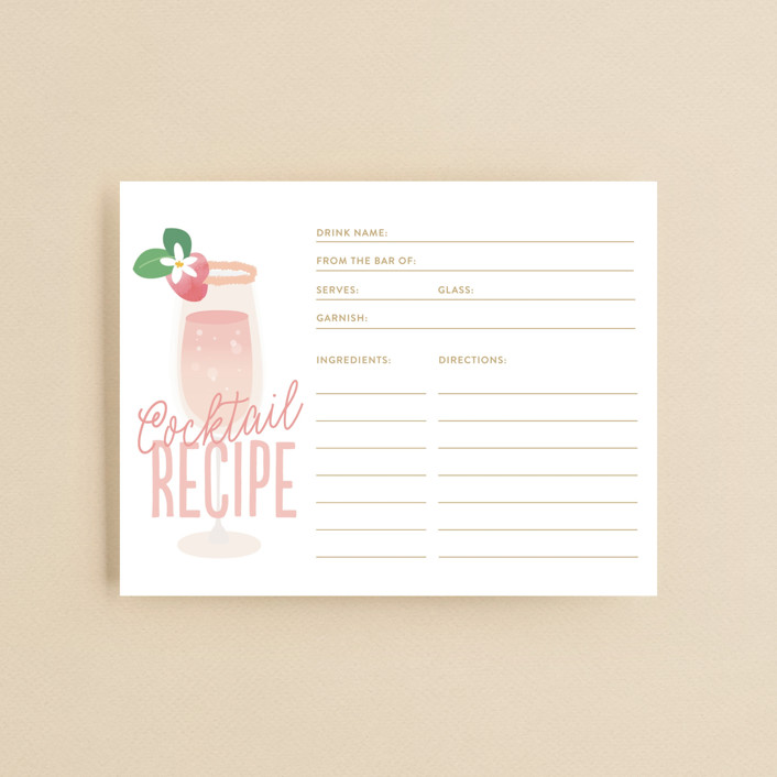 """""""Bubbly & Brunch"""" - Bridal Shower Insert Cards in Blush by Itsy Belle Studio."""
