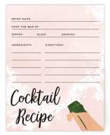 This is a pink bridal shower insert card by Pink House Press called Fancy Brunch with standard printing on signature in standard.