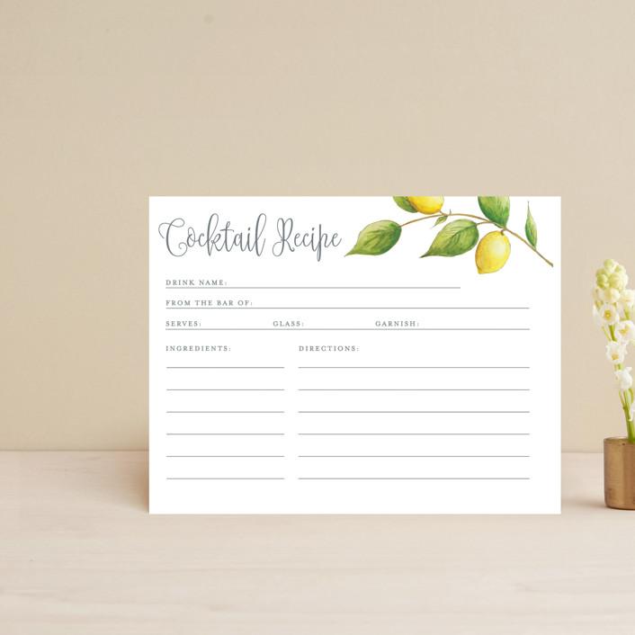 """Lemon Drop"" - Bridal Shower Insert Cards in Lemon by Erin Deegan."