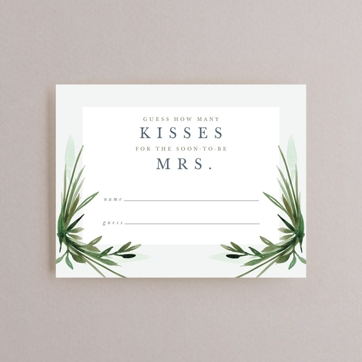 """Botanical Frame"" - Bridal Shower Insert Cards in Fern by Kate Ahn."