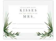 This is a green bridal shower insert card by Kate Ahn called Botanical Frame with standard printing on signature in standard.