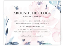 This is a pink bridal shower insert card by Petra Kern called Florista Modernista with standard printing on signature in standard.