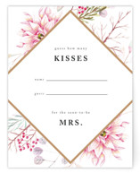 This is a pink bridal shower insert card by Poi Velasco called Ascent with standard printing on signature in standard.