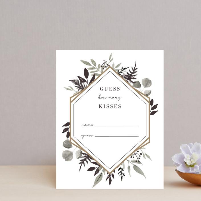 """Shade Garden"" - Bridal Shower Insert Cards in Ink by Robin Ott."