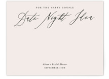 This is a beige bridal shower insert card by Leah Bisch called Timeless with standard printing on signature in standard.