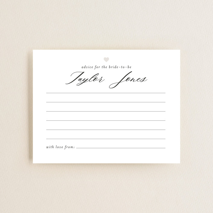 """""""Script Advice"""" - Bridal Shower Insert Cards in Cloud by Minted."""