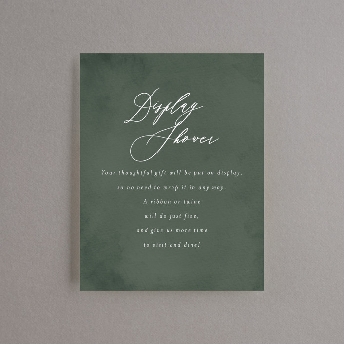 """""""Greenery"""" - Bridal Shower Insert Cards in Forest by Itsy Belle Studio."""
