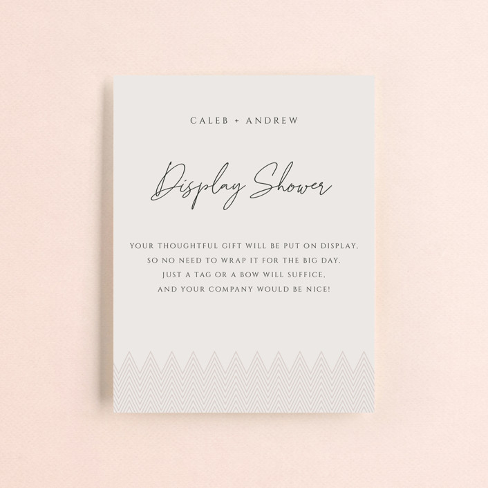 """""""Clean Slate"""" - Bridal Shower Insert Cards in Champagne by Adelyn T.."""
