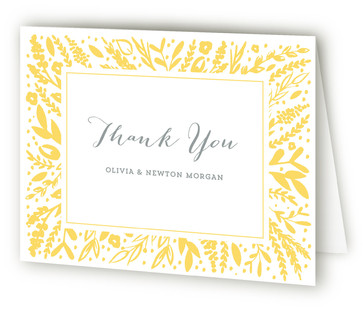 Frame Letterpress Birth Announcements Thank You Cards