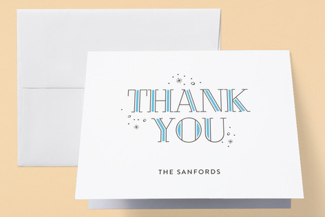 Stardust Letterpress Birth Announcements Thank You Cards