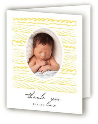 Winds of Sun Letterpress Birth Announcements Thank You Cards