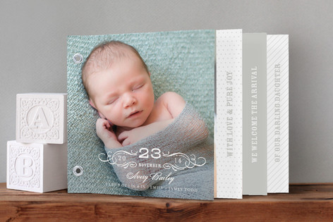 Vintage Baby Birth Announcement Minibook™ Cards