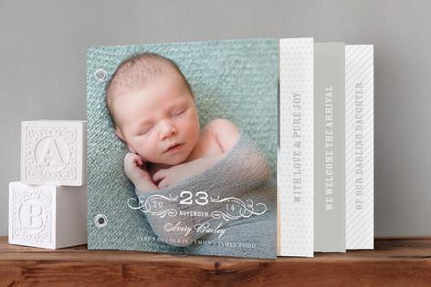 Vintage Baby Birth Announcement Minibook Ca – Vintage Birth Announcement