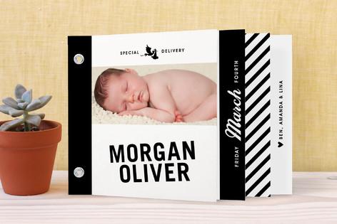 Vintage Label Birth Announcement Minibook™ Cards